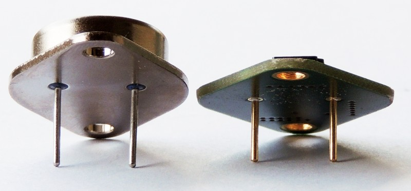 The pins of the LM323 Replacement is the same diameter as the original but slightly shorter