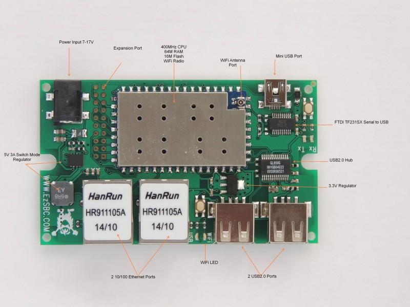 AR9331 OpernWrt  Development Board